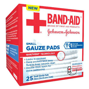 Band-Aid® First Aid Gauze Pads Small 53111612400