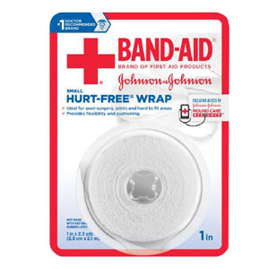 "J & J Band-Aid First Aid Hurt Free Wrap 1"""" x 2.3 yds 53111614500"