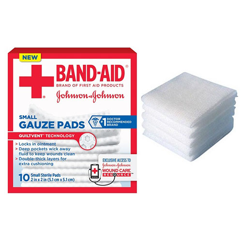 """Band-Aid® First Aid Gauze Pad, 2"""" x 2"""" Assorted Size, Small 53111656900"""