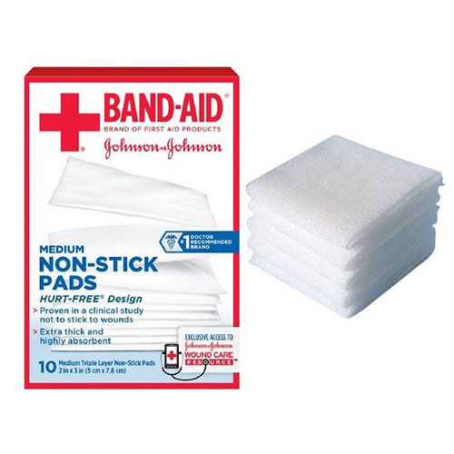 """Band-Aid® First Aid Non-Stick Pad, 2"""" x 3"""" Assorted Size, Medium 53111657200"""