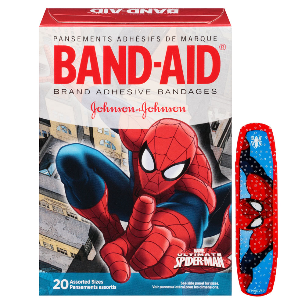 Band-Aid Decorative Spiderman Assorted 20 ct. 53116283