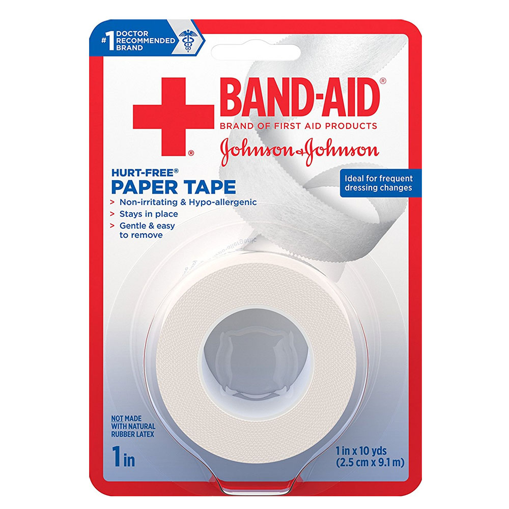 """Band-Aid First Aid Hurt-Free Paper Tape, 1"""""""" x 10 yards, 2 ct. 53117118"""
