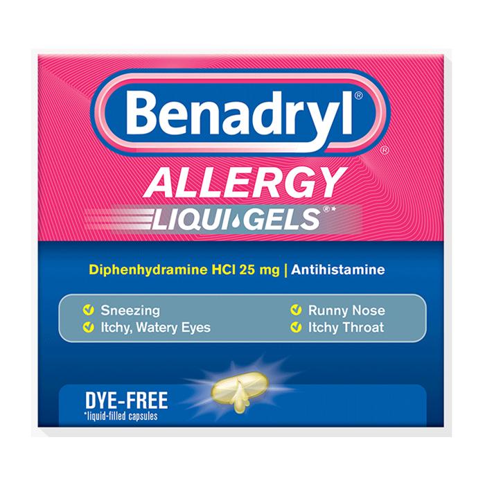 Benadryl Dye-Free Allergy Relief, Liqui-gels, 24 capsules 5317021