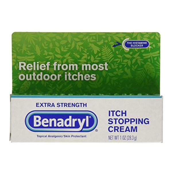 Benadryl Itch Stopping Cream, Extra Strength, 1 oz 5317167