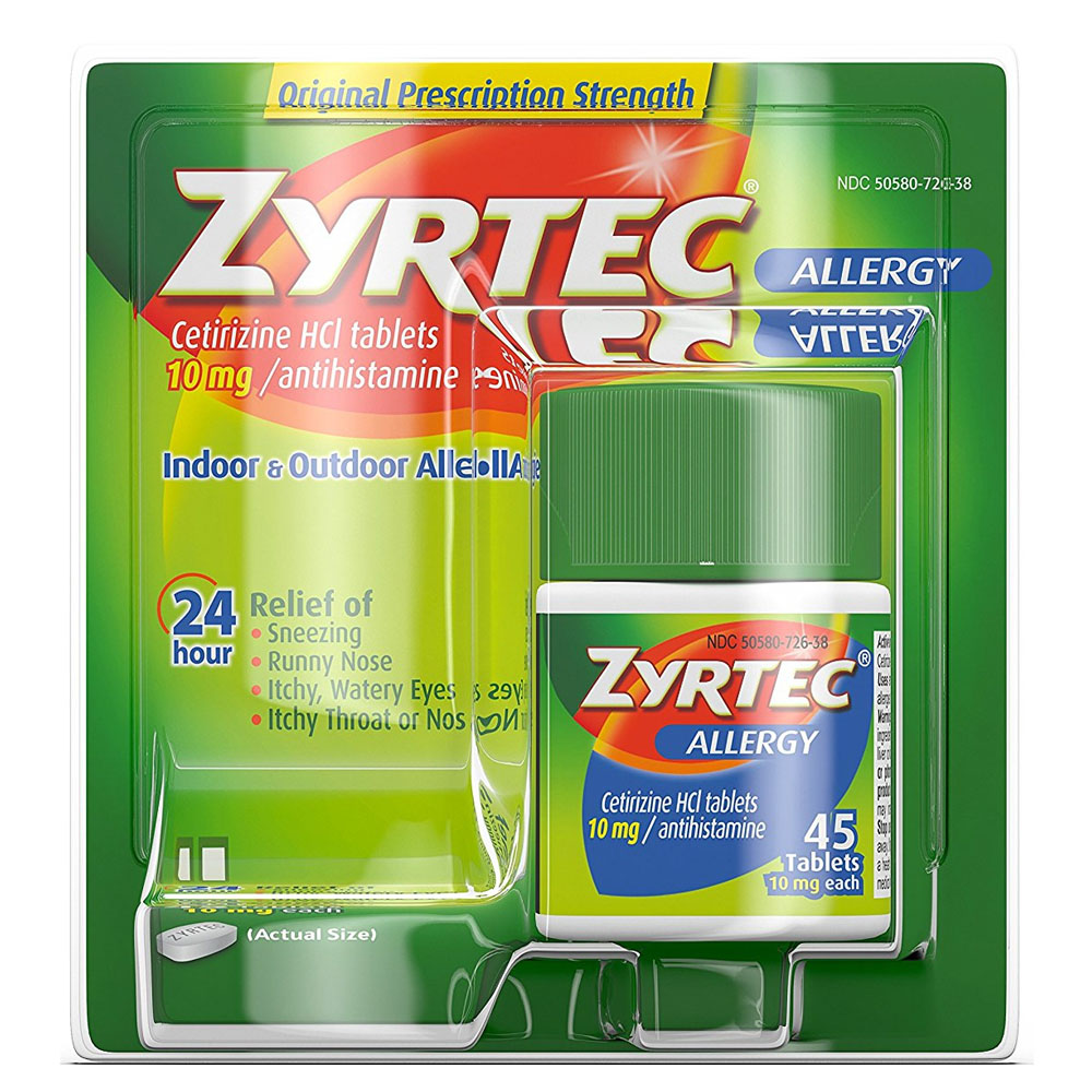 Zyrtec Allergy 24 Hour Tablets, 10 mg, 45 Count 5320438