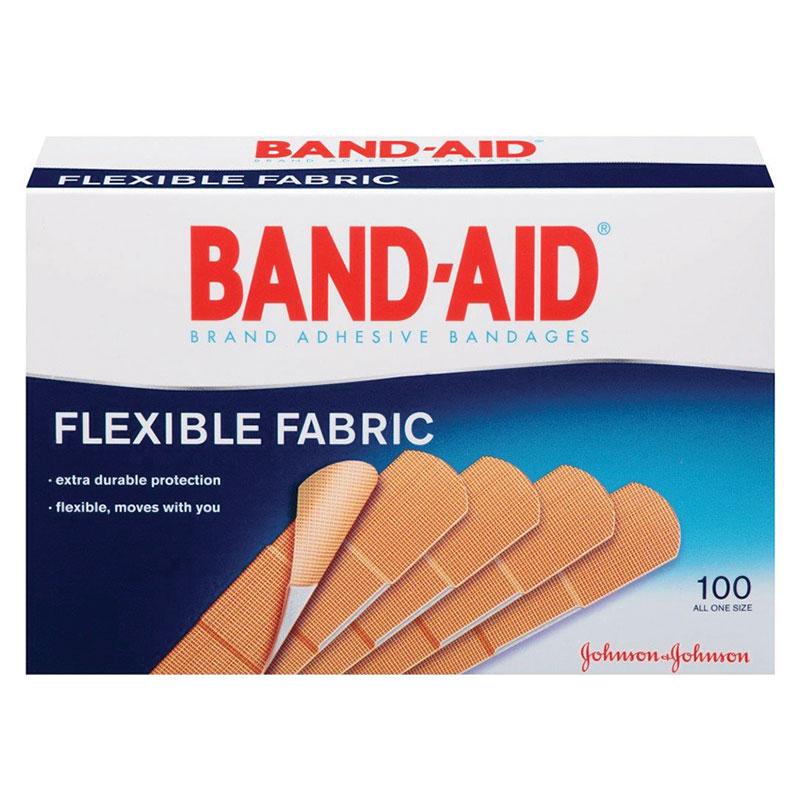 "Johnson & Johnson Band-Aid® Flexible Fabric Strip Adhesive Bandag 3/4"" x 3"", Sterile 534434"