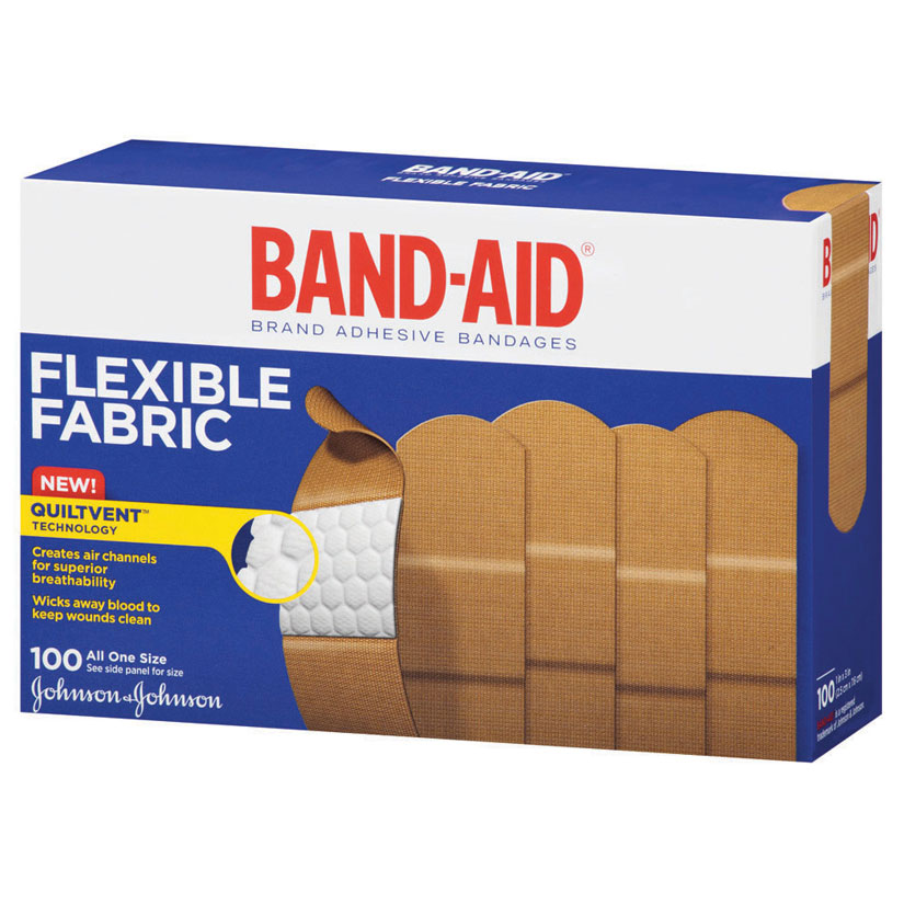 "Band-Aid Flexible Fabric Adhesive Bandage 1"""" x 3"""" 534444"