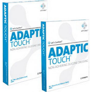 """Adaptic Touch™ Non Adhering Dressing, Flexible, Cellulose Acetate Coated with Silicone 3"""" x 4-1/4"""" 53500502"""