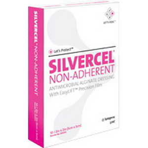 """Systagenix Silvercel™ Non Adherent Antimicrobial Alginate Dressing, Sterile 4-1/4"""" x 4-1/4"""" 53900404"""
