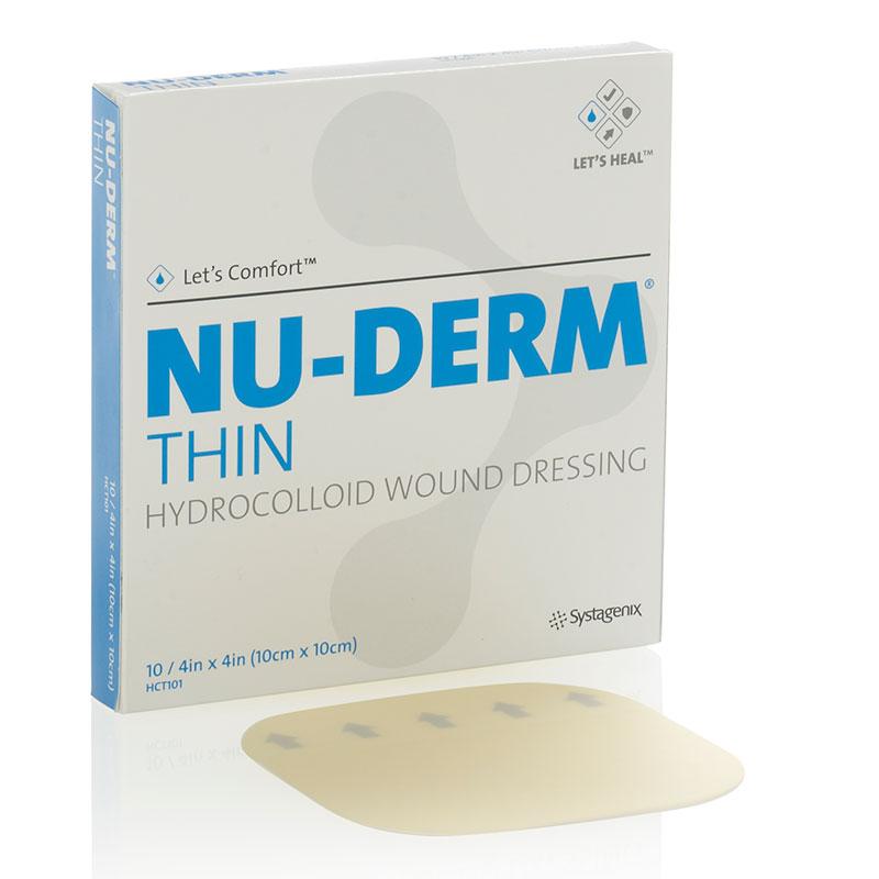 """Systagenix Nu-Derm® Thin Hydrocolloid Dressing 4"""" x 4"""" 53HCT101"""