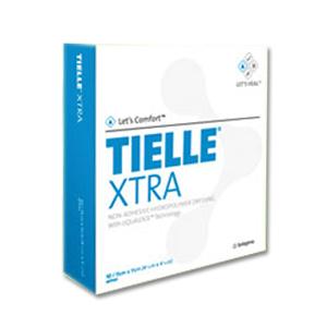 "Systagenix TIELLE® Adhesive Hydropolymer Dressing 4-1/4"" x 4-1/4"", Non-adhesive, LiquaLock Technology 53MTL101"