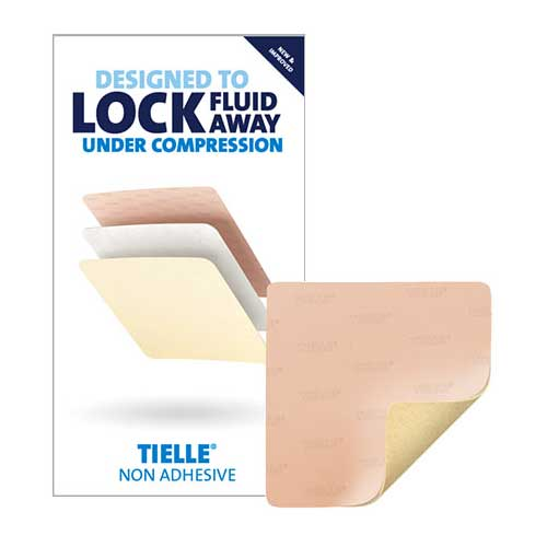 "KCI Tielle™ Non-Adhesive Hydropolymer Foam Dressing, 4"" x 4"" 53TLN1010EN"
