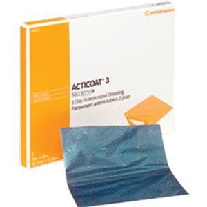 """Smith & Nephew Acticoat™ Antimicrobial Barrier Burn Dressing with Nanocrystalline Silver 5"""" x 5""""  5420151"""