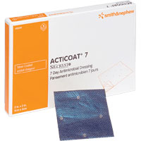"""Smith & Nephew Acticoat® Seven-Day, Low Adherent, Antimicrobial Barrier 2"""" x 2"""" 5420341"""