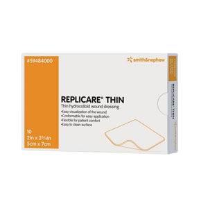"Smith & Nephew Replicare® Thin Hydrocolloid Wound Dressing, 3-1/2"" x 5-1/2"" 54594841"