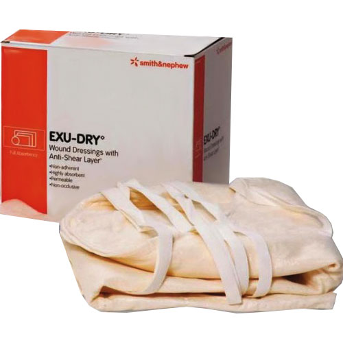 """Smith and Nephew Inc Exu-Dry® Anti-sheer Absorbent Wound Dressing 20"""" x 28"""", Non-occlusive, Full Absorbency, Non-adherent 545999M28"""