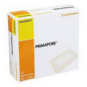 "Smith & Nephew Primapore™ Adhesive Wound Dressing, 4"" x 3-1/8"" 5466000317"