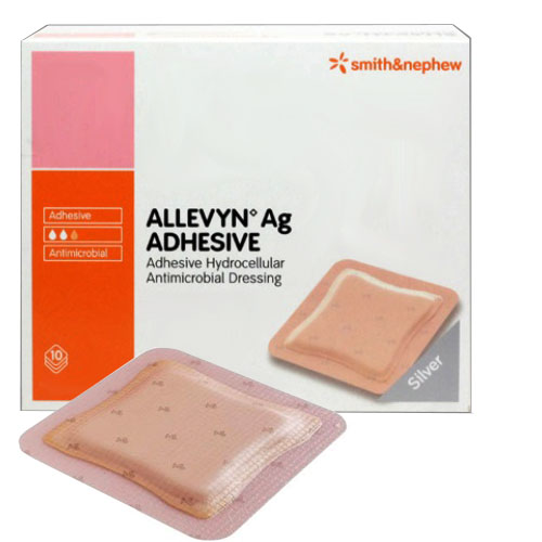 "Smith & Nephew Allevyn™ Ag Adhesive Absorbent Silver Hydrocellular Dressing 3"" x 3"" 5466020970"