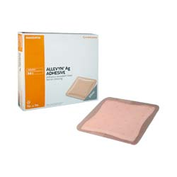Smith & Nephew Allevyn™ Ag Adhesive Absorbent Silver Hydrocellular Dressing, 5'' x 5'' 5466020973