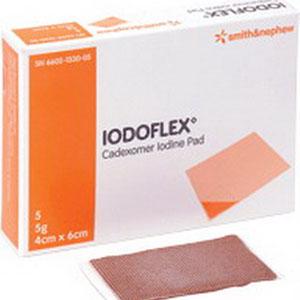 """Smith & Nephew Iodoflex® Cadexomer Iodine Gel Pad Dressing. 10g 2-1/8"""" x 3"""" 546602134010"""