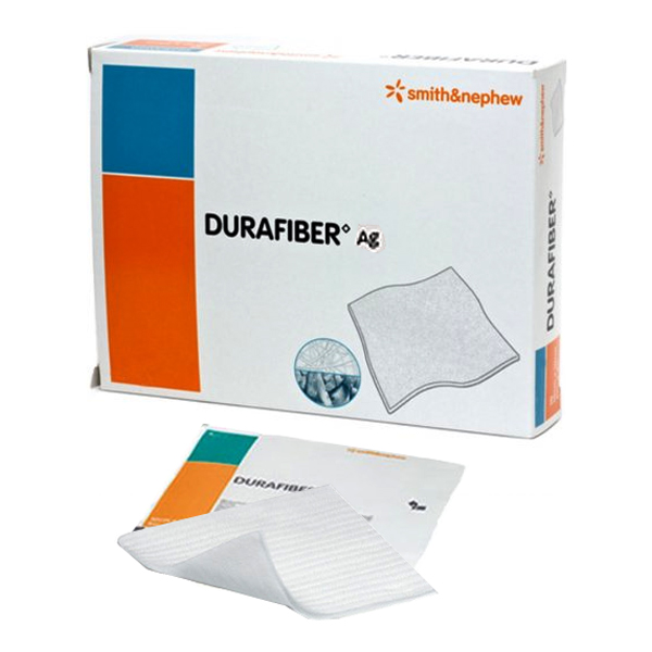 "Smith & Nephew Durafiber® Ag Gelling Fiber Dressing 4"" x 4-3/4""  5466800571"