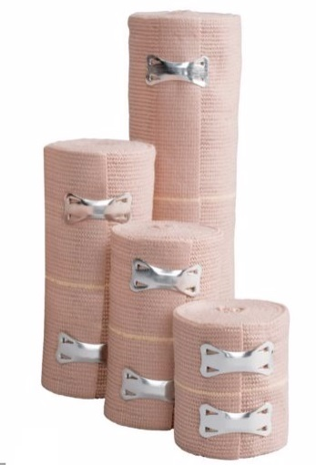 """Cardinal Health™ Elastic Bandage with Clip Closure, 5 yds Stretched x 6"""" 552370006LF"""