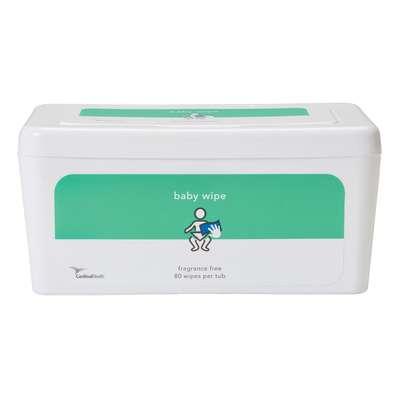 Baby Wipes, Fragrance Free (80 per tub) 552BWSU80
