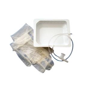 CareFusion AirLife™ Tri-Flo® Suction Catheter Kit with Two Powder-Free Vinyl Gloves, Rigid Basin, 8Fr 554408