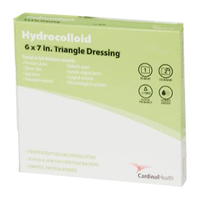 "Cardinal Health Hydrocolloid Dressing, 6"""" x 7"""" Triangle 55HCTRI"
