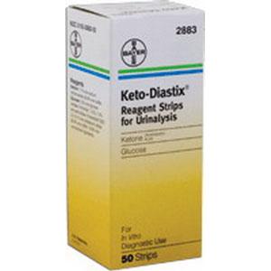 Keto-Diastix® Reagent Test Strip, Glucose and Ketone 562883