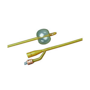 Bard 2-Way Foley Catheter, Silicone-Elastomer Coated, 16Fr, 5cc Balloon Capacity 57265716