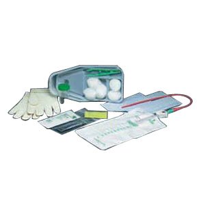 Bi-Level Tray with Red Rubber Catheter 15 Fr 1000 mL Due to Covid-19 related supply shortages, product may not contain gloves 57772414