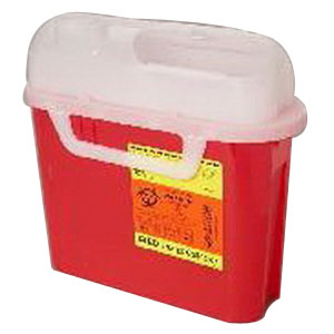 BD Guardian Sharps Container Side Entry, 5.4 qt, Pearl, Horizontal, Latex-Free 58305444