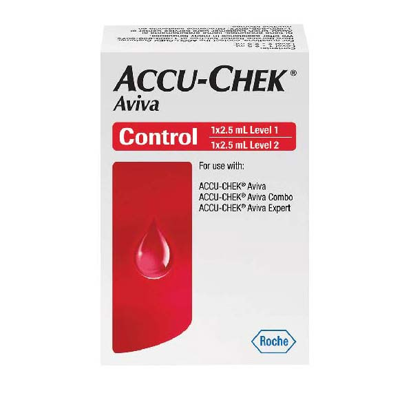 Accu-Chek® Aviva Control Solution 2-1/2mL, High/Low Level 5904528638001