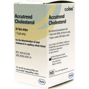 Roche Diagnostics Corp Accutrend® Plus Cholesterol Test Strips 25/Vial 5905213312160