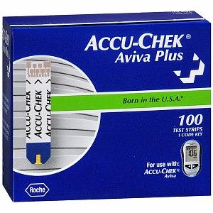 Accu-Chek® Aviva Plus Blood Glucose Test Strips 100 Count 5906908268001