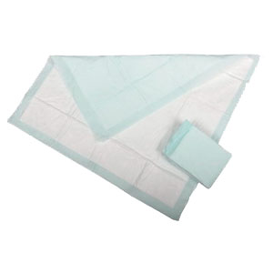 "Medline Industries Protection Plus® Disposable Polymer Underpad 23"" x 36"", Heavy Absorbency, Standard Weight, Latex-free, Polypropylene Backing 60282050LB"