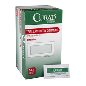 CURAD Triple Antibiotic Ointment, 0.9 g Packet 60CUR001209