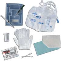 Silicone-Elastomer Coated Closed System Foley Catheter Tray 18 Fr 10 cc 60DYND11008