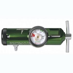 Medline Industries Oxygen regulator, 0 to 8 LPM, 870 CGA Connection, Latex-free 60HCS8708M