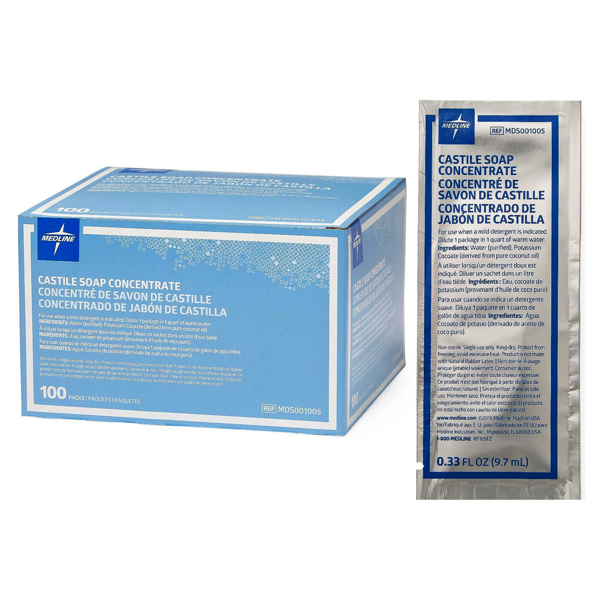 Castile Soap Concentrate Packet  9 cc 60MDS001005