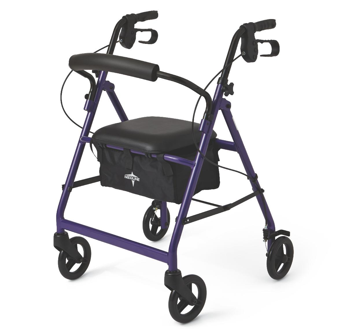 "Basic Rollator, Purple, 31"" - 35"", 6"" Wheel Size 60MDS86850EP"