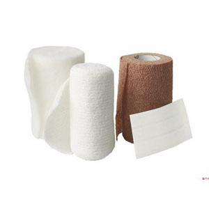 "Medline Industries ThreeFlex™ 3-Layer Compression Bandage System, Includes Padding Bandage 4"" x 3-4/5 yds (Unstretched), Light Conforming Bandage 4"" x 3 yds (Unstretched), Cohesive Bandage 4"" x 3-1/5 yds (Unstretched), 3 Pieces of Tape and Applicati 60MSC4300"