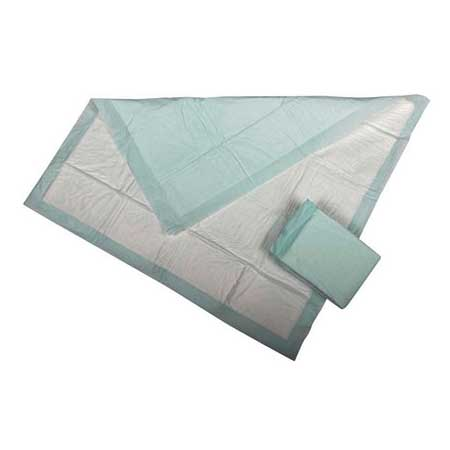 "Medline Disposable Polymer Underpad, 30"" x 36"", Green 60MUP2030P"