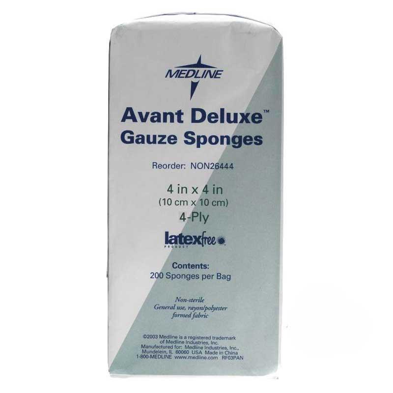 """Avant Deluxe Non-Sterile Gauze Sponges, 4"""" x 4"""", 4-Ply 60NON26444"""