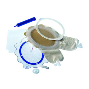 "Coloplast Two-Piece Fistula and Wound Management System 6-3/16"" to 9"" Cutting Area, Midi, Flexible Adhesive 6214060"