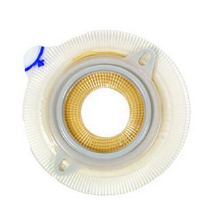 """Coloplast Assura® Extra Two-Piece Skin Barrier, Extra-Extended Wear, Belt Tabs, 1-9/16"""" Flange, Pre-Cut Flat 3/4"""" Stoma Opening 6214251"""