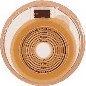 """Coloplast Assura® One-Piece Stoma Cap, Filter, Opaque, Cut-to-Fit Flat Skin Barrier, 3/4"""" to 2-1/8"""" Stoma 622501"""