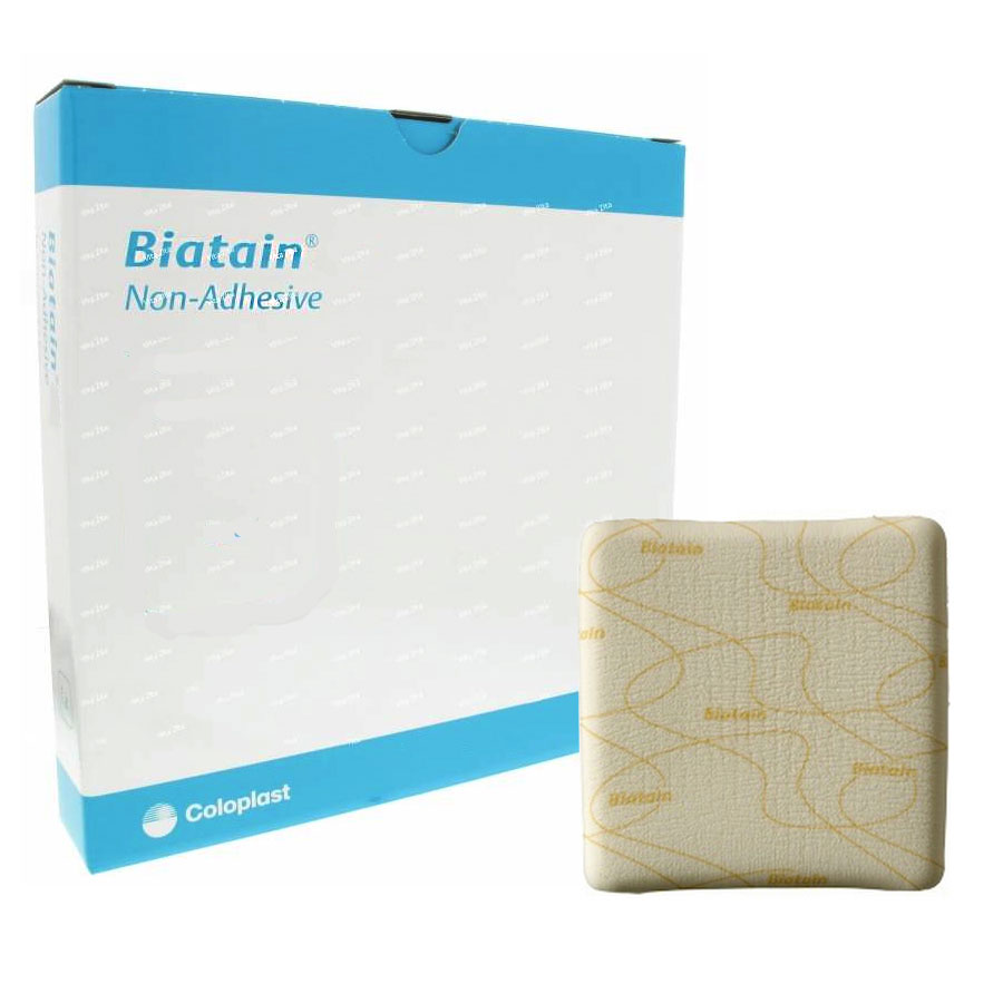 """Coloplast Biatain® Non Adhesive Foam Dressing, Sterile, Highly Absorbent, 4"""" x 4"""" 623410"""