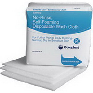 Coloplast Bedside-Care® EasiCleanse™ Self Foaming Skin Washcloth, Latex-Free 627055